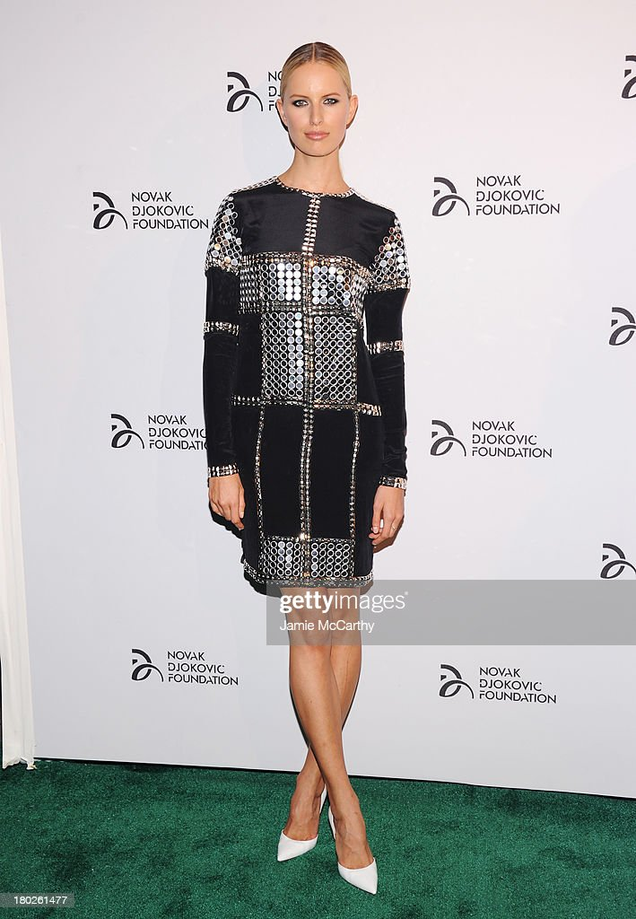 Model <a gi-track='captionPersonalityLinkClicked' href=/galleries/search?phrase=Karolina+Kurkova&family=editorial&specificpeople=202513 ng-click='$event.stopPropagation()'>Karolina Kurkova</a> attends the Novak Djokovic Foundation New York dinner at Capitale on September 10, 2013 in New York City.