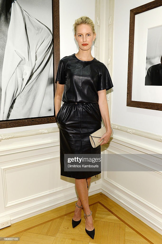 Model <a gi-track='captionPersonalityLinkClicked' href=/galleries/search?phrase=Karolina+Kurkova&family=editorial&specificpeople=202513 ng-click='$event.stopPropagation()'>Karolina Kurkova</a> attends the Peter Lindbergh artist reception presented by Vladimir Restoin Roitfeld on September 7, 2013 in New York City.