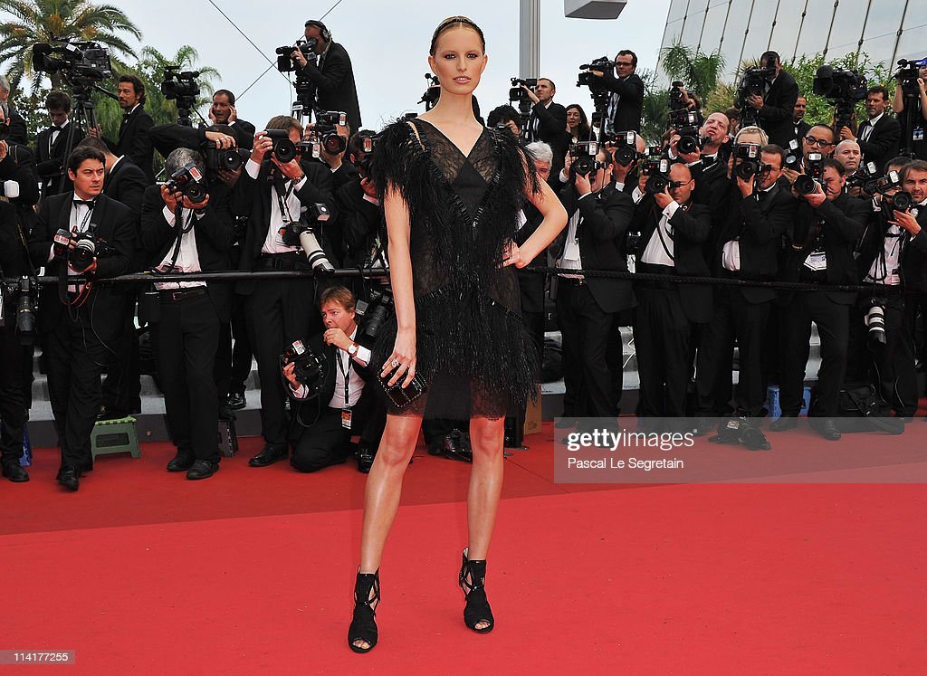 Model Karolina Kurkova attends the 'Pirates of the Caribbean: On Stranger Tides' premiere at the Palais des Festivals during the 64th Cannes Film Festival on May 14, 2011 in Cannes, France.