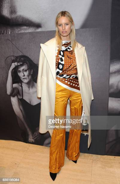 Model Karolina Kurkova attends The Pirelli Calendar Presents Peter Lindbergh On Beauty at Cipriani Wall Street on February 13 2017 in New York City