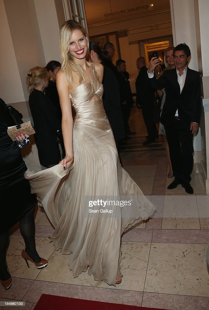 Model Karolina Kurkova attends the Prix Montblanc 2012 at the Konzerthaus am Gendarmenmarkt on October 29, 2012 in Berlin, Germany.