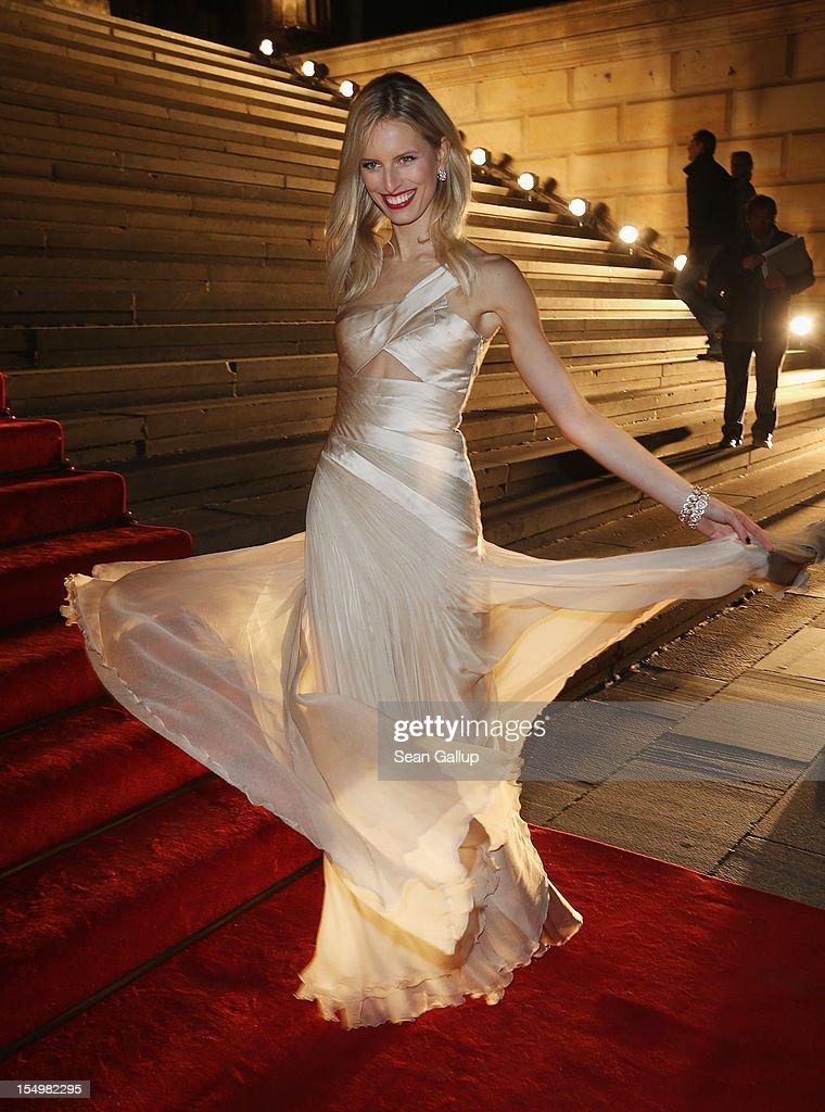 Model Karolina Kurkova attends the Prix Montblanc 2012 at the Konzerthaus am Gendarmenmarkt on October 29, 2012 in Berlin, Germany.