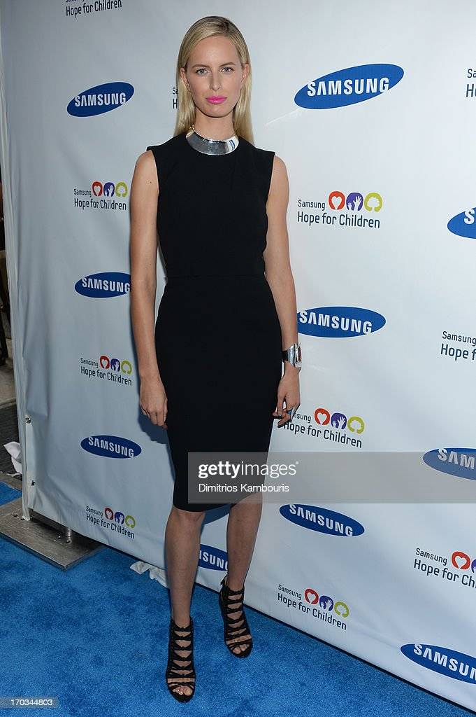 Model <a gi-track='captionPersonalityLinkClicked' href=/galleries/search?phrase=Karolina+Kurkova&family=editorial&specificpeople=202513 ng-click='$event.stopPropagation()'>Karolina Kurkova</a> attends the Samsung's Annual Hope for Children Gala at Cipriani's in Wall Street on June 11, 2013 in New York City.