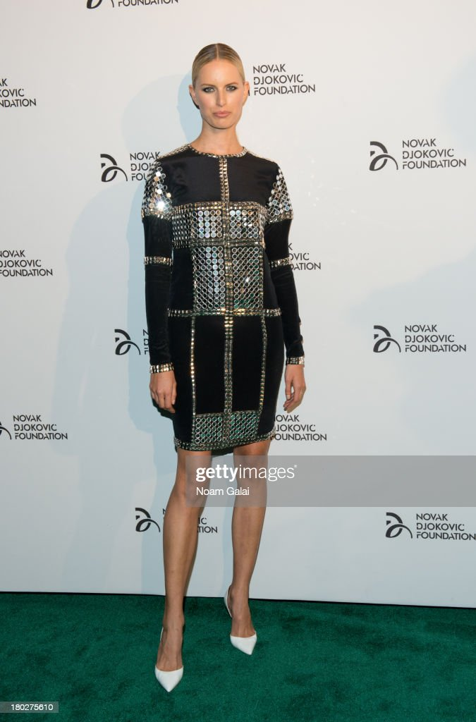 Model <a gi-track='captionPersonalityLinkClicked' href=/galleries/search?phrase=Karolina+Kurkova&family=editorial&specificpeople=202513 ng-click='$event.stopPropagation()'>Karolina Kurkova</a> attends the The 2013 Novak Djokovic Benefit Dinner at Capitale on September 10, 2013 in New York City.