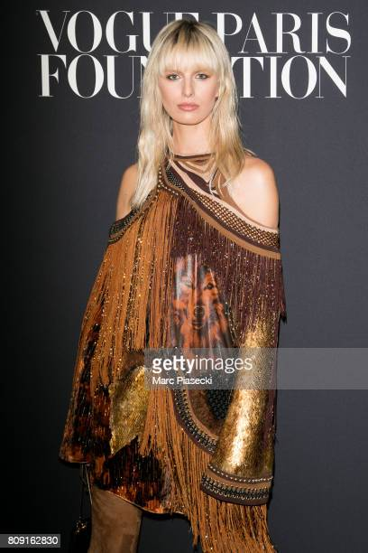 Model Karolina Kurkova attends Vogue Foundation Dinner during Paris Fashion Week as part of Haute Couture Fall/Winter 20172018 at Musee Galliera on...