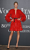Model Karolina Kurkova attends Vogue Italia 50th Anniversary Event on September 21 2014 in Milan Italy