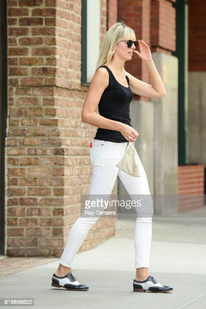 Model Karolina Kurkova enters her Tribeca hotel on July 20 2017 in New York City