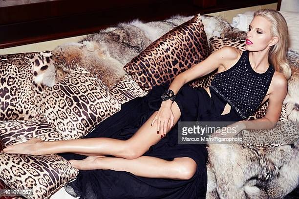 106430035 Model Karolina Kurkova is photographed for Madame Figaro on May 18 2013 in Cannes France Dress and cuff PUBLISHED IMAGE CREDIT MUST READ...