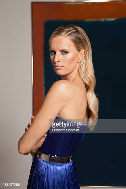 Model Karolina Kurkova is photographed for New York Times on February 5 2013 in New York City