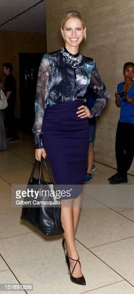 Model Karolina Kurkova is seen around Lincoln Center during Spring 2013 MercedesBenz Fashion Week on September 9 2012 in New York City