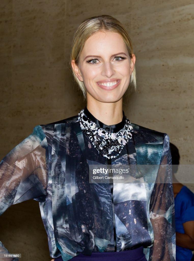 Model Karolina Kurkova is seen around Lincoln Center during Spring 2013 Mercedes-Benz Fashion Week on September 9, 2012 in New York City.