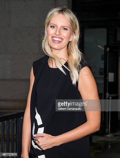 Model Karolina Kurkova is seen arriving at Desigual fashion show during Spring 2016 New York Fashion Week on September 10 2015 in New York City