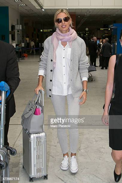 Model Karolina Kurkova is seen at Nice airport during the 68th annual Cannes Film Festival on May 19 2015 in Cannes France