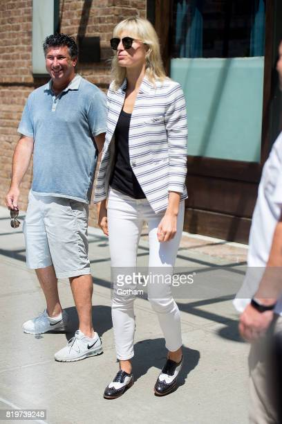Model Karolina Kurkova is seen in Tribeca on July 20 2017 in New York City