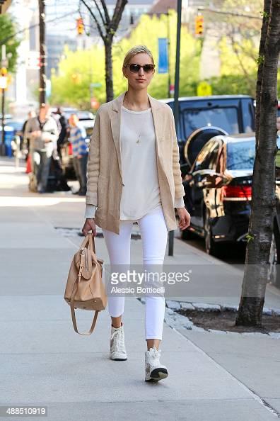 Model Karolina Kurkova is seen walking in TriBeCa on May 6 2014 in New York City
