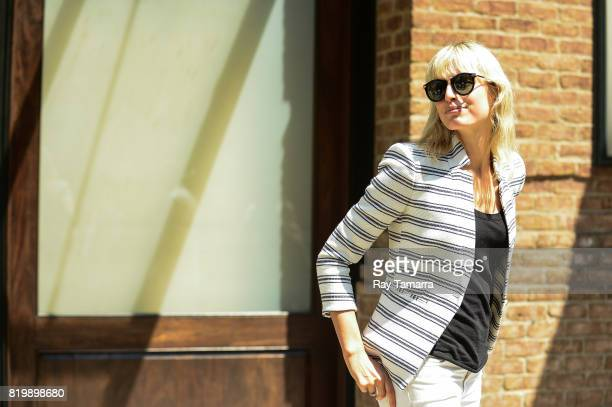 Model Karolina Kurkova leaves her Tribeca hotel on July 20 2017 in New York City