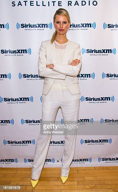 Model Karolina Kurkova visits SiriusXM Studios on February 12 2013 in New York City