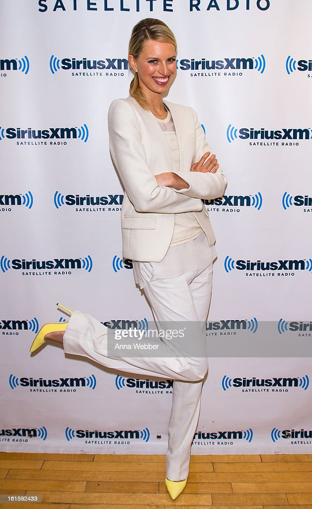Model Karolina Kurkova visits SiriusXM Studios on February 12, 2013 in New York City.