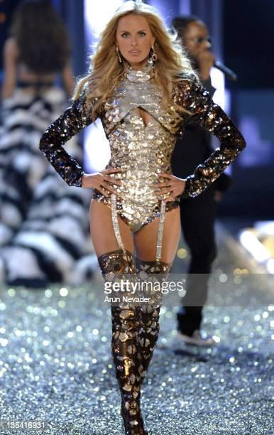 Model Karolina Kurkova wearing Victoria's Secret at the 12th Victoria's Secret Fashion show at the Kodak Theater on November 15 2007 in Hollywood...