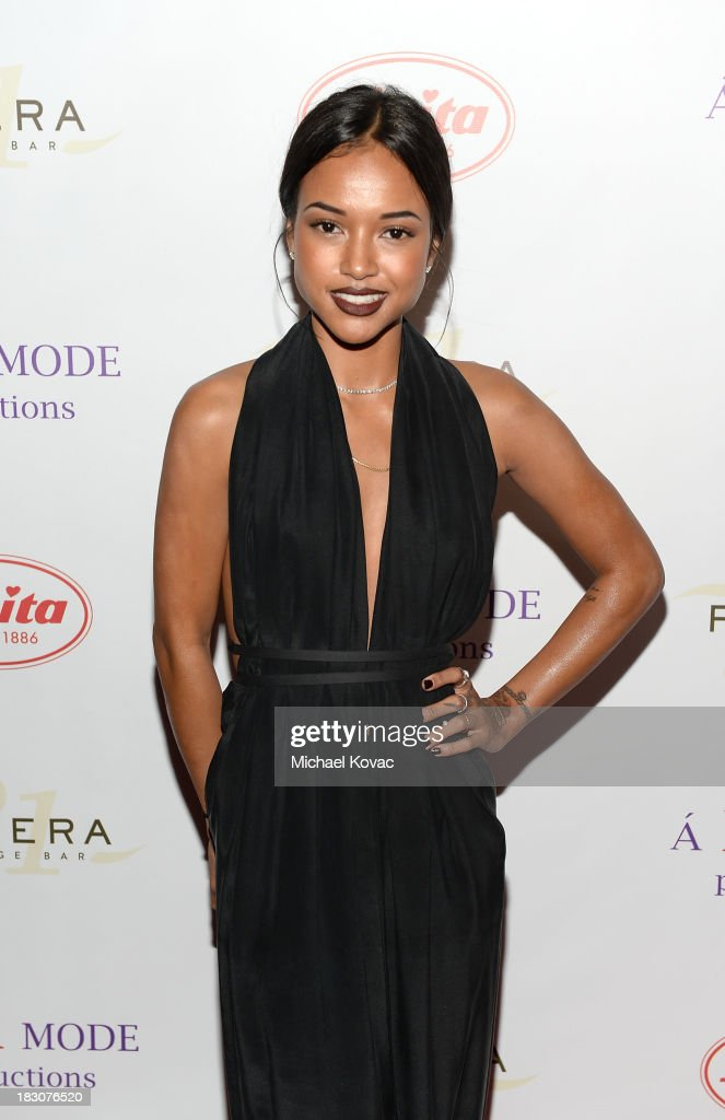 Model <a gi-track='captionPersonalityLinkClicked' href=/galleries/search?phrase=Karrueche+Tran&family=editorial&specificpeople=9447374 ng-click='$event.stopPropagation()'>Karrueche Tran</a> arrives for A la mode Productions Presents Designers Night Out at Sofitel Hotel on October 3, 2013 in Los Angeles, California.