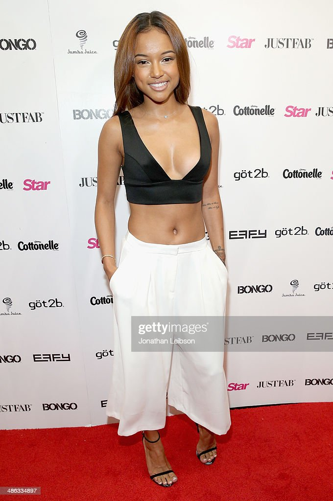 Model Karrueche Tran attends Star Magazine Hollywood Rocks 2014 at SupperClub Los Angeles on April 23, 2014 in Los Angeles, California.
