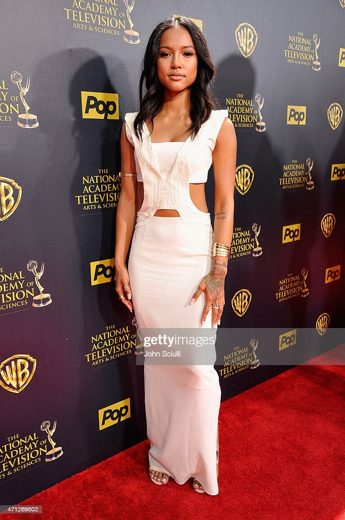 Model Karrueche Tran attends The 42nd Annual Daytime Emmy Awards at Warner Bros Studios on April 26 2015 in Burbank California