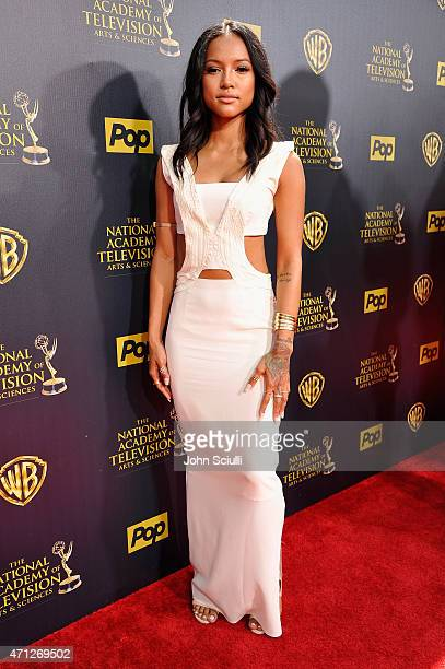 Model Karrueche Tran attends The 42nd Annual Daytime Emmy Awards at Warner Bros Studios on April 26 2015 in Burbank California