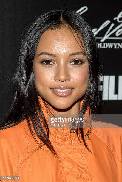 Model Karrueche Tran attends the 'Fresh Dressed' New York Premiere at SVA Theater on June 18 2015 in New York City