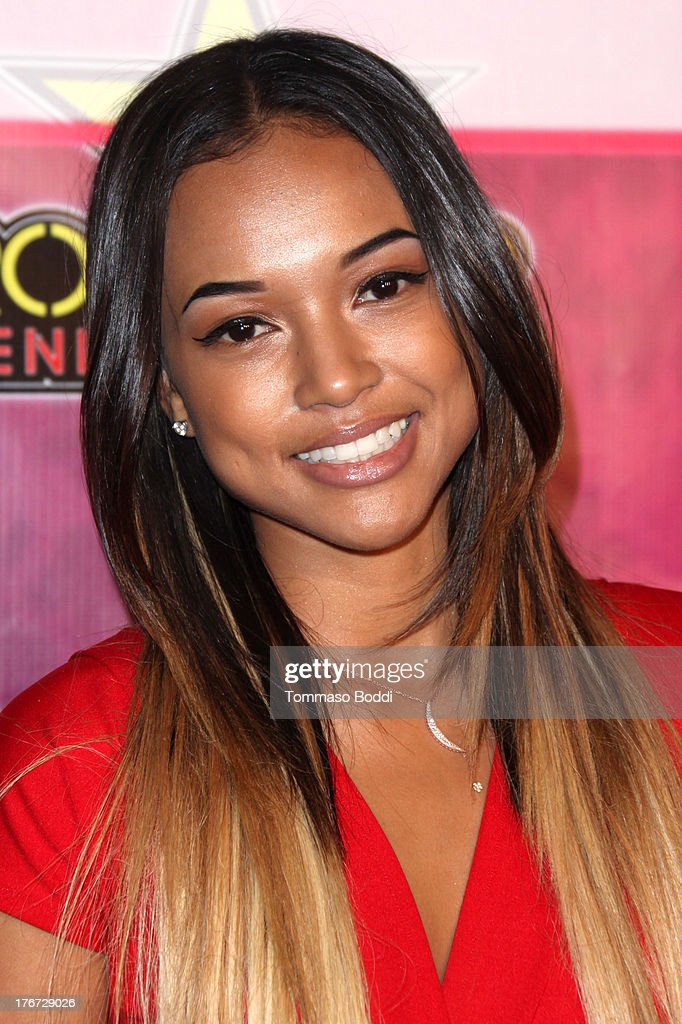 Model Karrueche Tran attends the Karma International presents Kandyland 2013: 'An Evening Of Decadent Dreams' benefiting of Generation Rescue on August 17, 2013 in Beverly Hills, California.