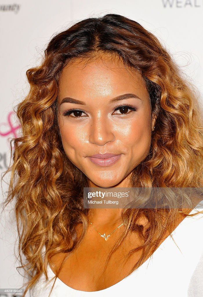 Model Karrueche Tran attends the Matt Leinart Foundation's 8th Annual Celebrity Bowl at Lucky Strike Bowling Alley on July 17, 2014 in Hollywood, California.