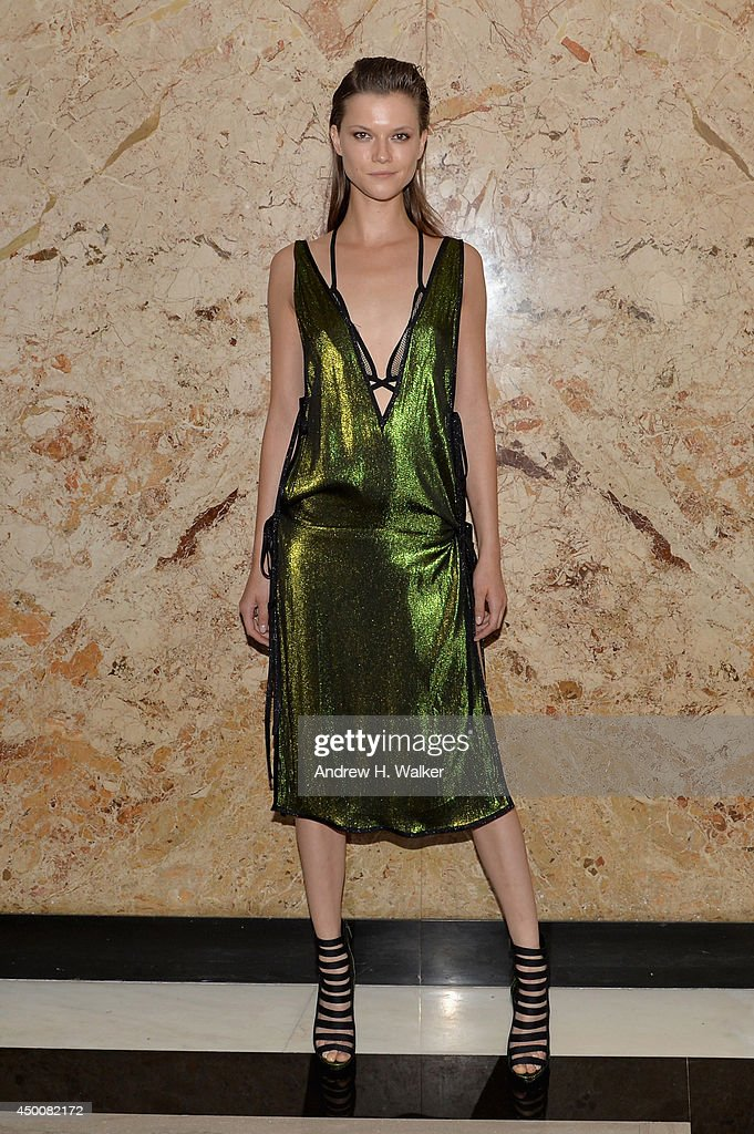 Model Kasia Struss attend the Gucci beauty launch event hosted by Frida Giannini on June 4, 2014 in New York City.