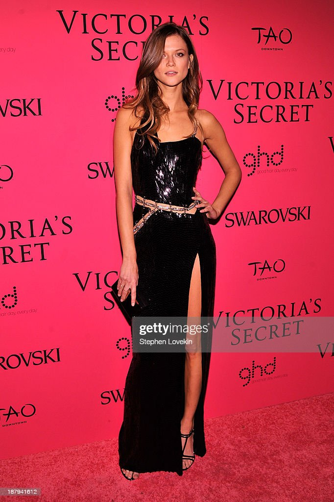 Model Kasia Struss attends the 2013 Victoria's Secret Fashion Show at TAO Downtown on November 13, 2013 in New York City.