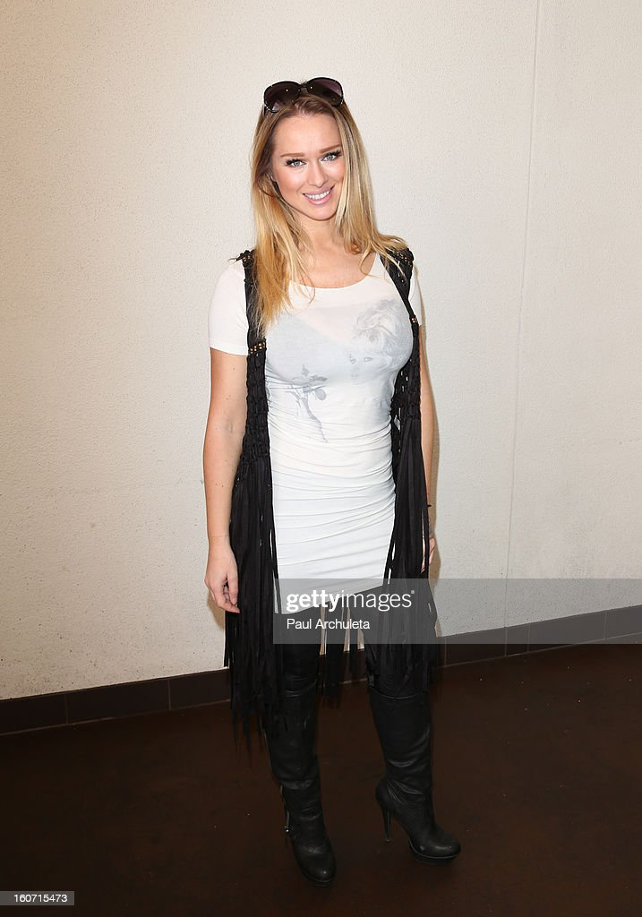Model Katarina Van Derham attends The Unlikely Heroes charity luncheon event in support of anti-human trafficking at the Veggie Grill on February 4, 2013 in Los Angeles, California.