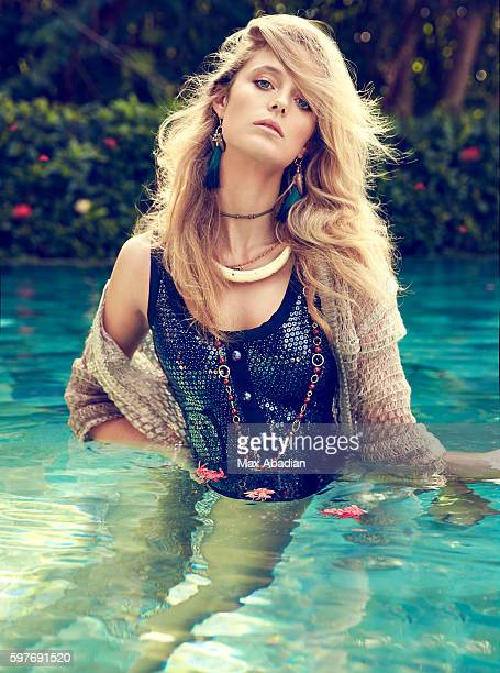 Model Kate Bock is photographed for Elle Canada on October 30 2015 in Cozumel Mexico Published Image