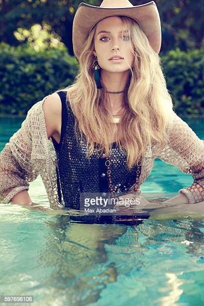Model Kate Bock is photographed for Elle Magazine Canada on October 30 2015 in Cozumel Mexico Published Image