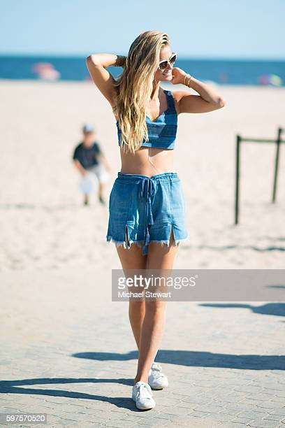 Model Kate Lynne Bock attends the 2016 Sports Illustrated Summer of Swim Fan Festival Concert at the Ford Amphitheater at Coney Island Boardwalk on...