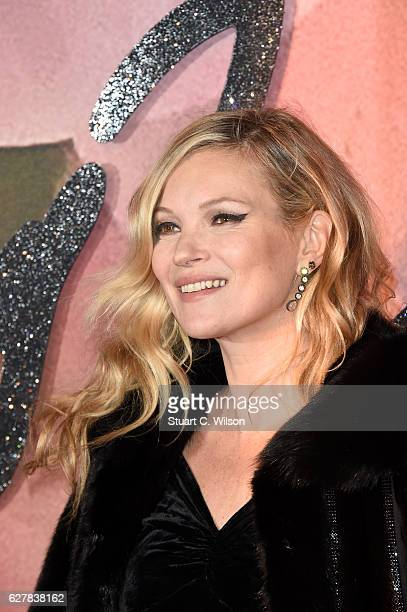 Model Kate Moss attends The Fashion Awards 2016 on December 5 2016 in London United Kingdom
