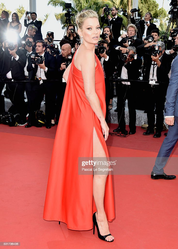 Model <a gi-track='captionPersonalityLinkClicked' href=/galleries/search?phrase=Kate+Moss&family=editorial&specificpeople=201830 ng-click='$event.stopPropagation()'>Kate Moss</a> attends the 'Loving' premiere during the 69th annual Cannes Film Festival at the Palais des Festivals on May 16, 2016 in Cannes, France.