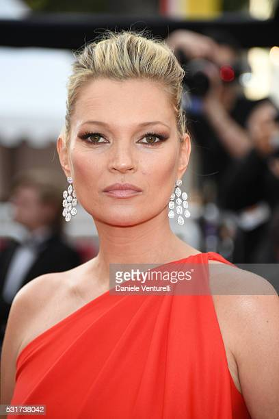 Model Kate Moss attends the 'Loving' premiere during the 69th annual Cannes Film Festival at the Palais des Festivals on May 16 2016 in Cannes