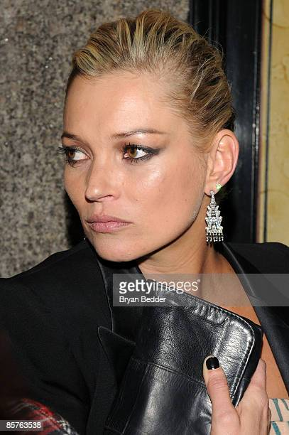 Model Kate Moss attends the TOPSHOP TOPMAN private dinner to celebrate the flagship store opening at Balthazar on April 1 2009 in New York City