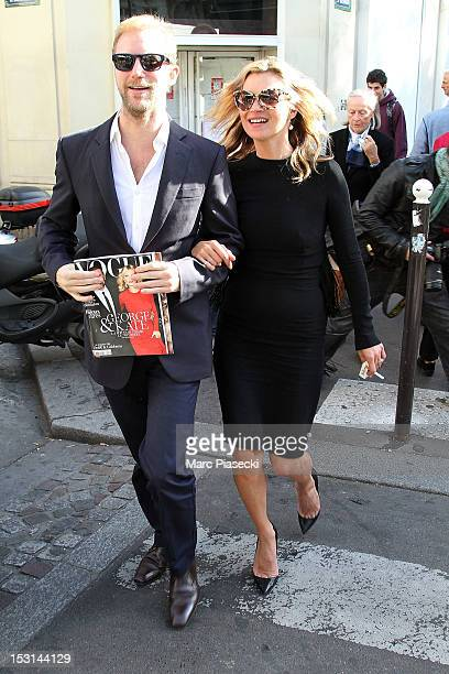 Model Kate Moss is seen near the 'Cafe de Flore' on October 1 2012 in Paris France