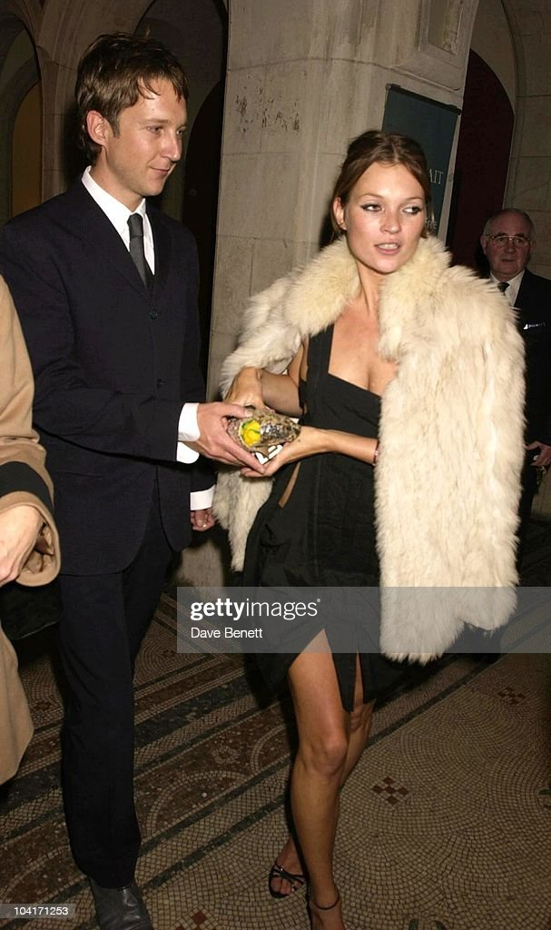 Model Kate Moss With Her Boyfriend Jefferson, Fashion Photographer Mario Testino Attracted All The Most Glamorous Women In London To His Exhibition At The National Portrait Gallery.