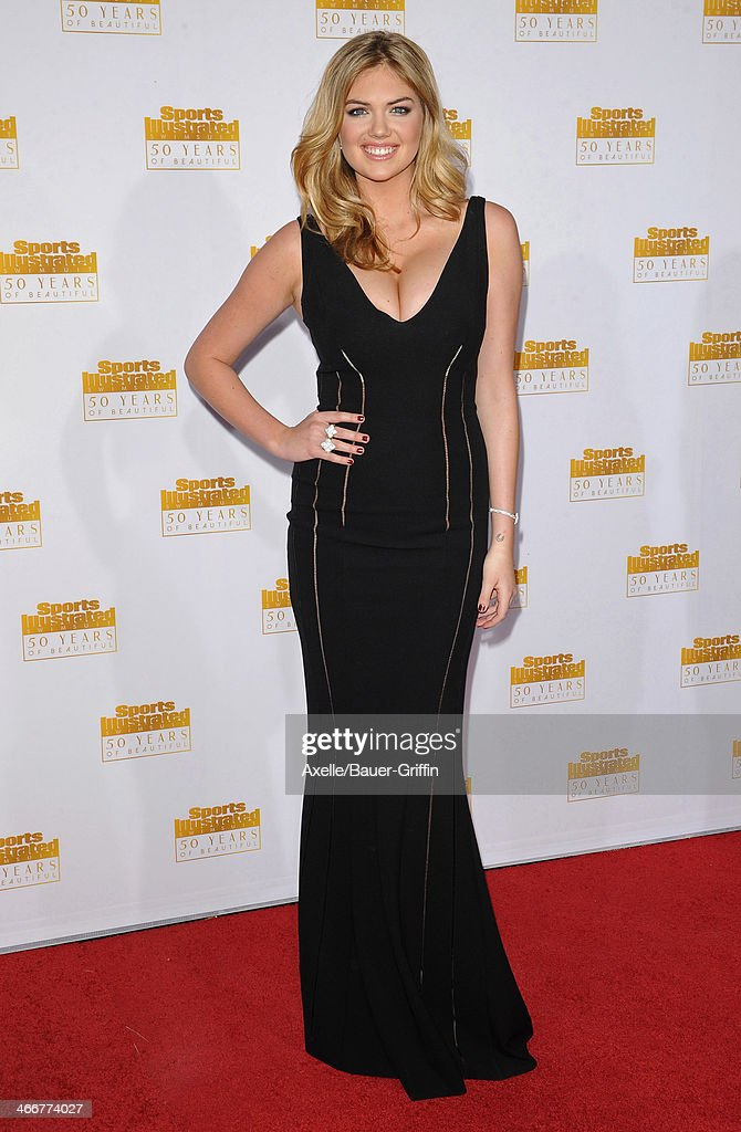 Model <a gi-track='captionPersonalityLinkClicked' href=/galleries/search?phrase=Kate+Upton&family=editorial&specificpeople=7488546 ng-click='$event.stopPropagation()'>Kate Upton</a> arrives at NBC And Time Inc. Celebrate 50th Anniversary Of Sports Illustrated Swimsuit Issue at Dolby Theatre on January 14, 2014 in Hollywood, California.