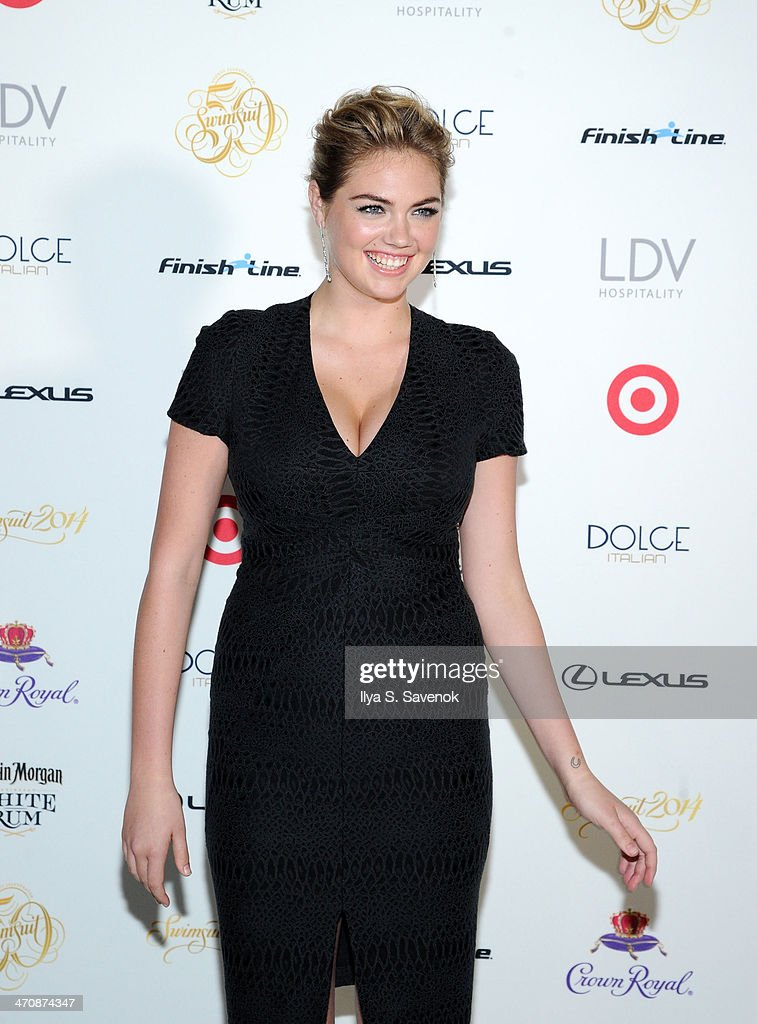 Model Kate Upton arrives at SI Swimsuit South Beach Soiree at The Gale South Beach on February 20, 2014 in Miami Beach, Florida.