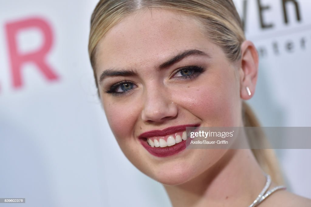 Model Kate Upton arrives at the Los Angeles Premiere of 'The Layover' at ArcLight Hollywood on August 23, 2017 in Hollywood, California.