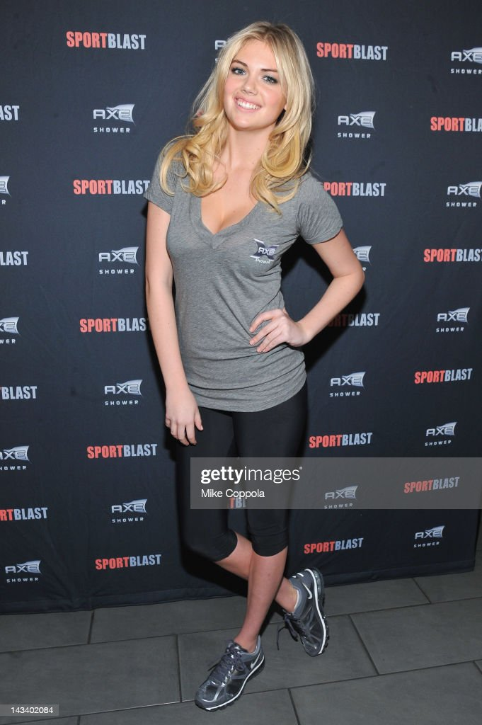 Model <a gi-track='captionPersonalityLinkClicked' href=/galleries/search?phrase=Kate+Upton&family=editorial&specificpeople=7488546 ng-click='$event.stopPropagation()'>Kate Upton</a> attends NFL Rookie Event at Axe Sport Blast Combine House at Times Square on April 25, 2012 in New York City.
