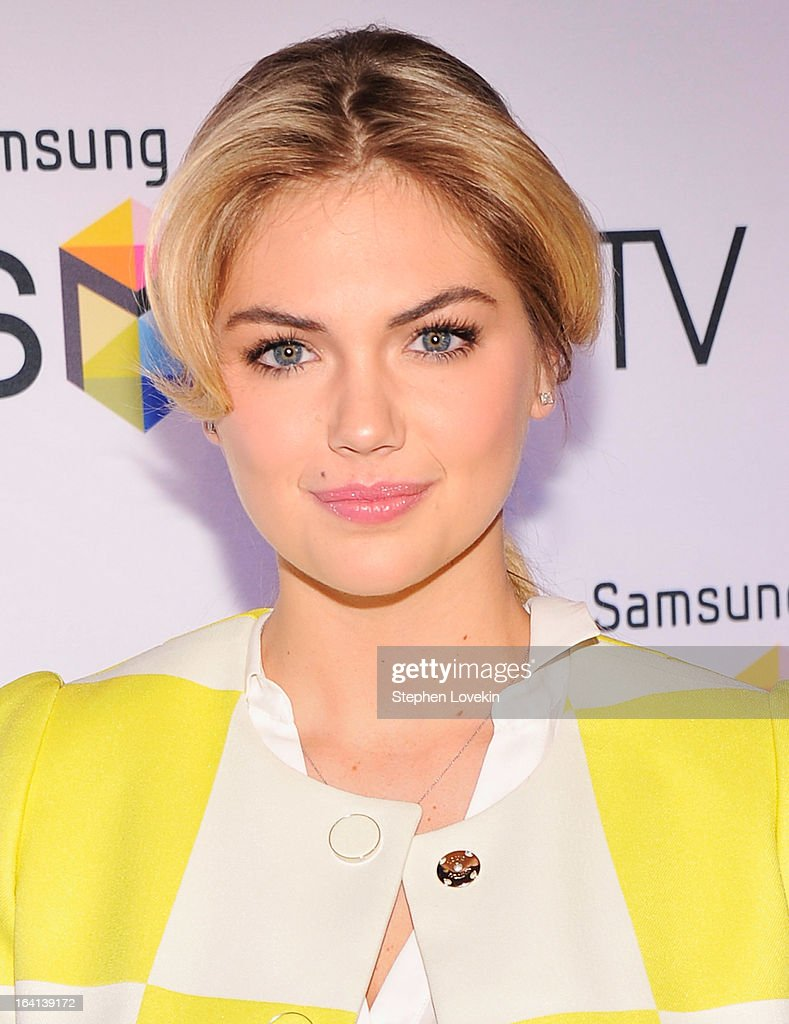 Model Kate Upton attends Samsung's 2013 Television Line Launch Event at Museum Of American Finance on March 20, 2013 in New York City.