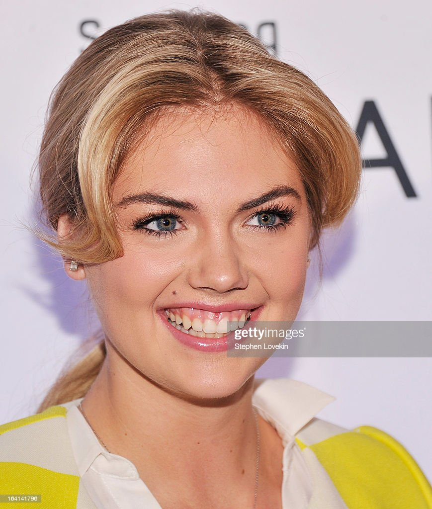 Model <a gi-track='captionPersonalityLinkClicked' href=/galleries/search?phrase=Kate+Upton&family=editorial&specificpeople=7488546 ng-click='$event.stopPropagation()'>Kate Upton</a> attends Samsung's 2013 Television Line Launch Eventat Museum Of American Finance on March 20, 2013 in New York City.