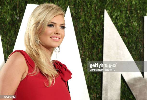 Model Kate Upton attends the 2012 Vanity Fair Oscar Party Hosted By Graydon Carter at Sunset Tower on February 26 2012 in West Hollywood California