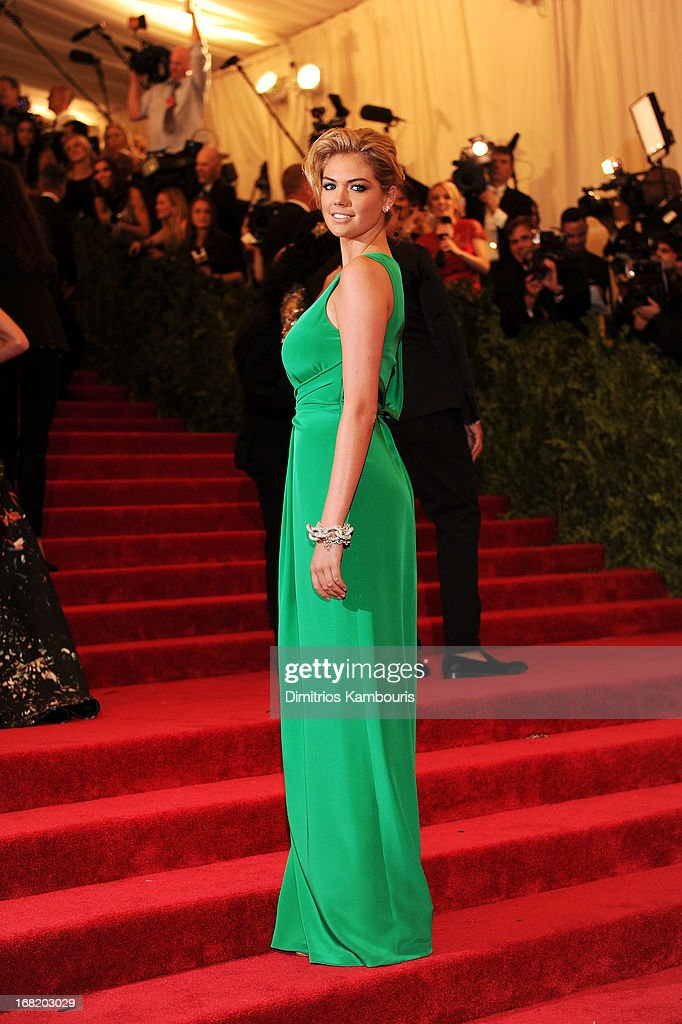 Model Kate Upton attends the Costume Institute Gala for the 'PUNK: Chaos to Couture' exhibition at the Metropolitan Museum of Art on May 6, 2013 in New York City.